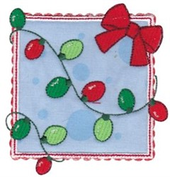 Box Christmas Lights Applique embroidery design