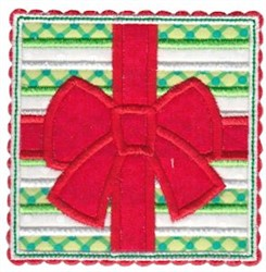 Box Christmas Gift Applique embroidery design
