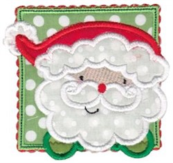 Box Christmas Santa Applique embroidery design