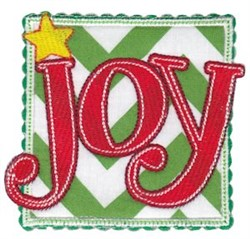 Box Christmas Joy Applique embroidery design