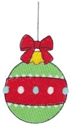 Jolly Holiday Ornament embroidery design