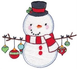 Jolly Holiday Snowman embroidery design