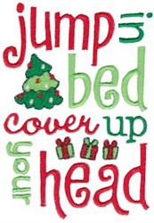 Jump In Bed Jolly Christmas embroidery design