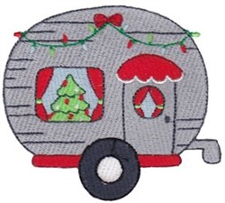 Jolly Holiday Camper embroidery design
