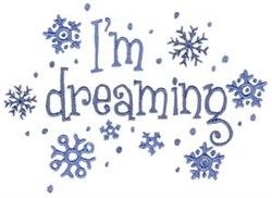 Im Dreaming embroidery design