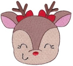 Jolly Holiday Girl Reindeer embroidery design