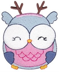 Jolly Holiday Owl embroidery design