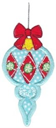 Holiday Ornament Applique embroidery design
