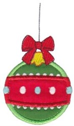 Holiday Applique Ornament embroidery design