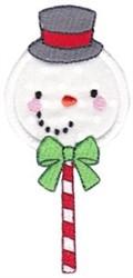 Applique Snowman Sucker embroidery design