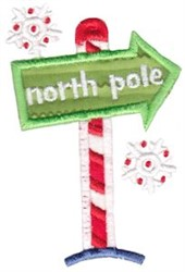 North Pole Applique embroidery design