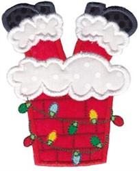 Silly Santa Applique embroidery design