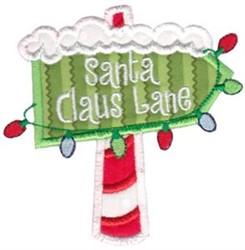 Santa Claus Lane Applique embroidery design
