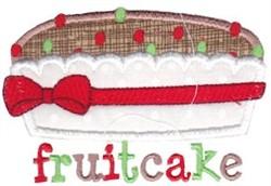 Christmas Fruitcake Applique embroidery design