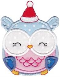 Christmas Owl Applique embroidery design