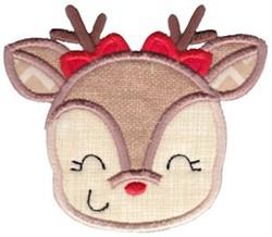 Female Reindeer Applique embroidery design