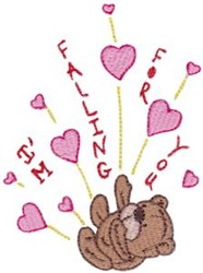 Im Falling For You embroidery design