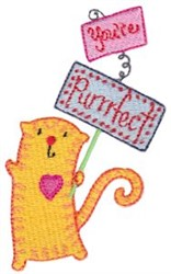 Youre Purrfect! embroidery design