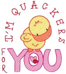 Quackers For You embroidery design