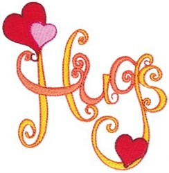 Hearts & Hugs embroidery design