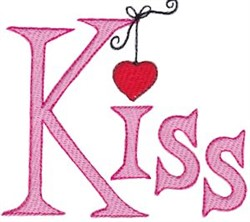 Hearts & Kisses embroidery design