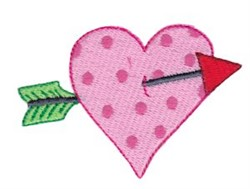 Valentine Heart & Arrow embroidery design
