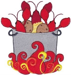 Southern Crawfish Boil embroidery design