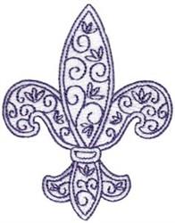 Decorative Fleur De Lis embroidery design