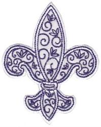 Fleur De Lis Applique embroidery design