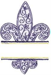 Fleur De Lis Name Drop embroidery design