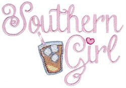 Southern Girl embroidery design