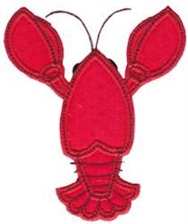 Crawfish Applique Design embroidery design
