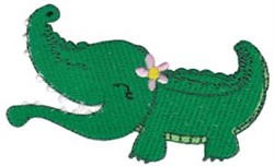 Southern Girl Gator embroidery design