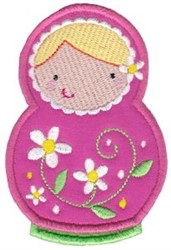 Matryoshka Applique embroidery design