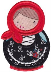 Matryoshka Doll Applique embroidery design