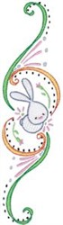 Swirly Easter Border embroidery design