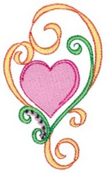 Swirly Easter Heart embroidery design