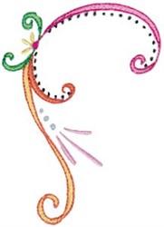 Swirly Easter Corner Border embroidery design