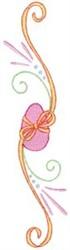 Swirly Easter Egg Border embroidery design