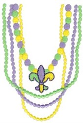 Mardi Gras Beads embroidery design