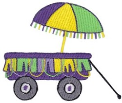Mardi Gras Parade Float embroidery design