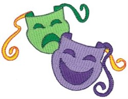 Mardi Gras Theater Masks embroidery design
