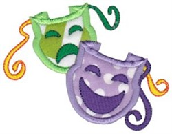 Theater Masks Applique embroidery design