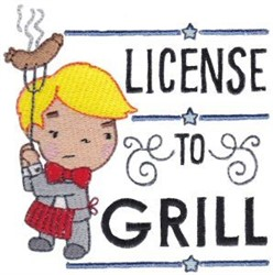 License To Grill embroidery design