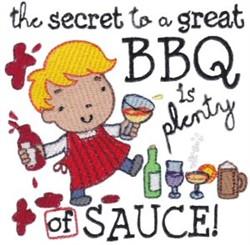 Plenty Of Sauce! embroidery design