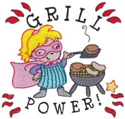 Grill Power! embroidery design