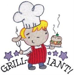 Grill-Iant! embroidery design