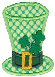 Applique Irish Top Hat embroidery design