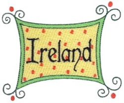 Ireland Sign embroidery design