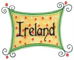 Ireland Sign Applique embroidery design